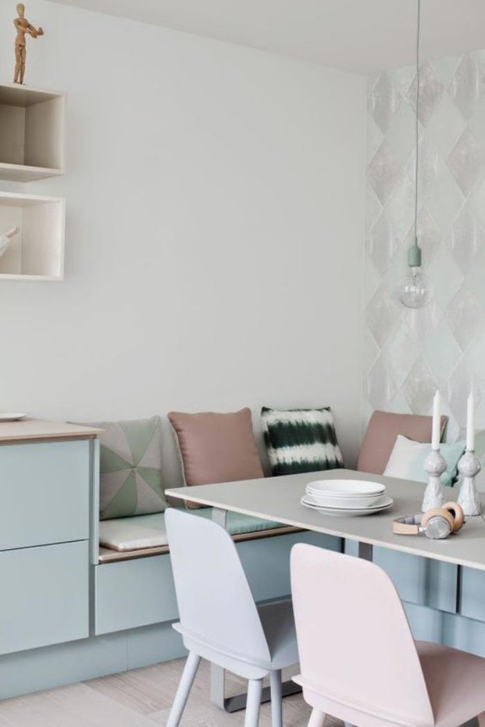 Pourquoi choisir une table avec banquette pour la cuisine for Plan banquette cuisine