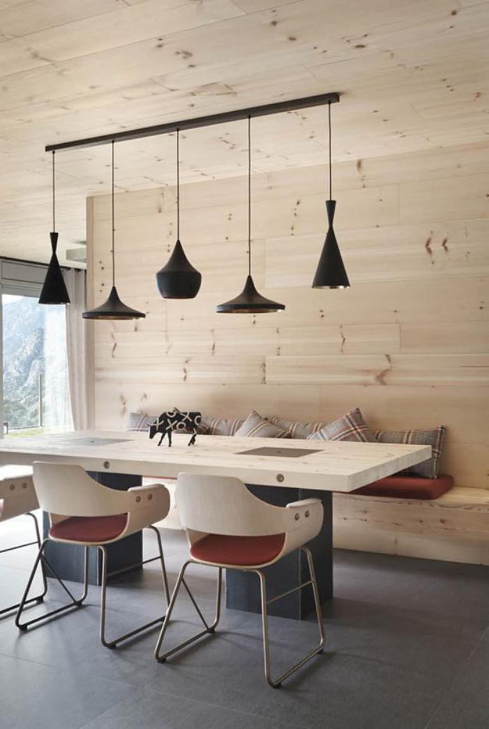table-avec-banquette-salle-à-manger-originale