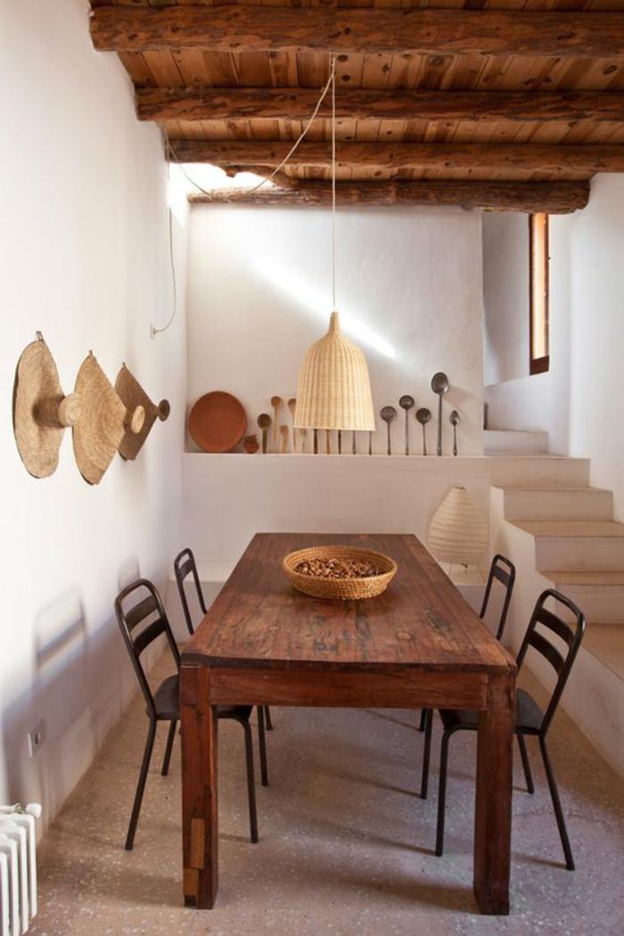 table-de-salle-à-manger-aménagement-simple-style-campagne