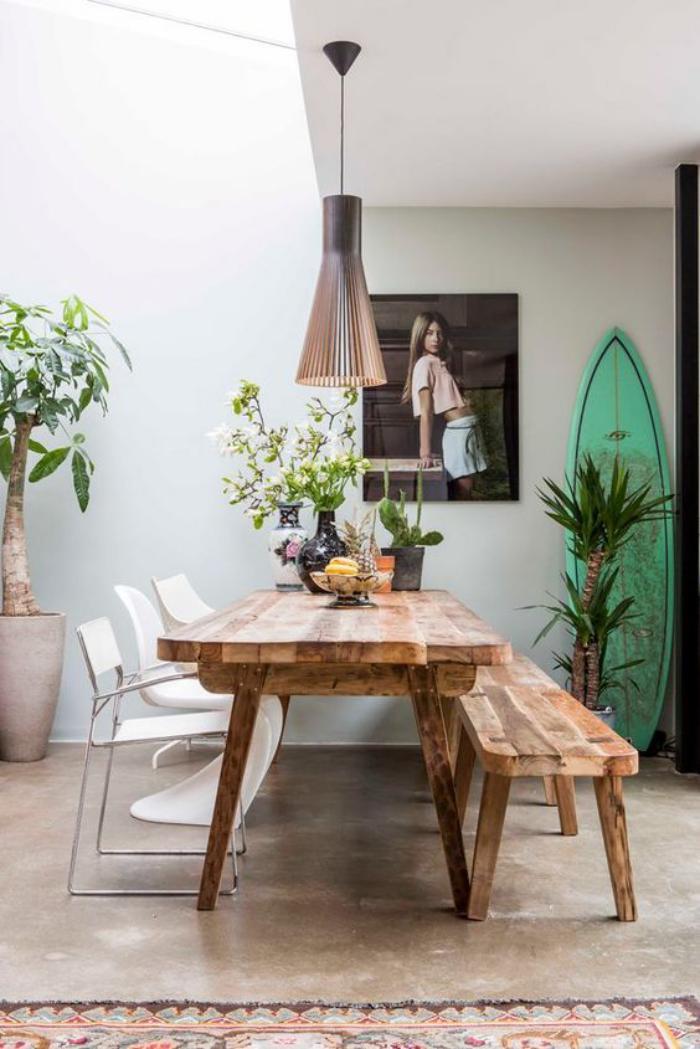 table-de-salle-à-manger-banquette-salle-à-mager-en-bois