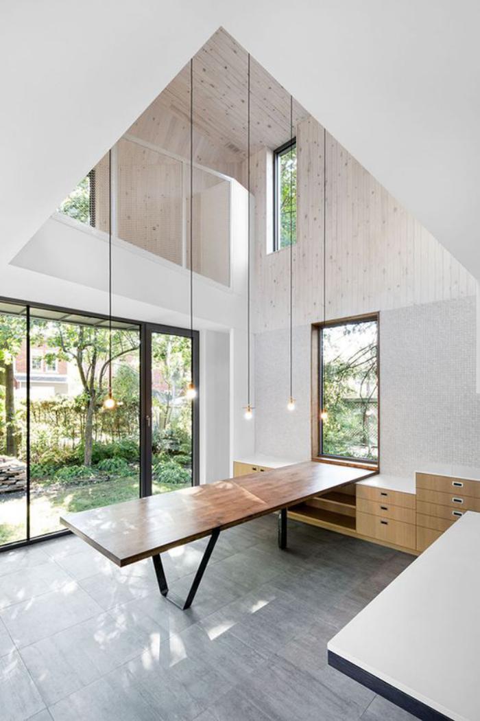 table-de-salle-à-manger-espace-loft-moderne