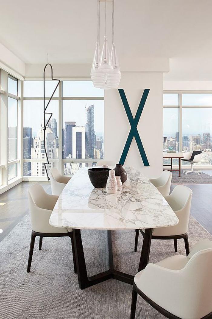 table-de-salle-à-manger-intérieur-blanc-élégant-table-de-repas-marbrée