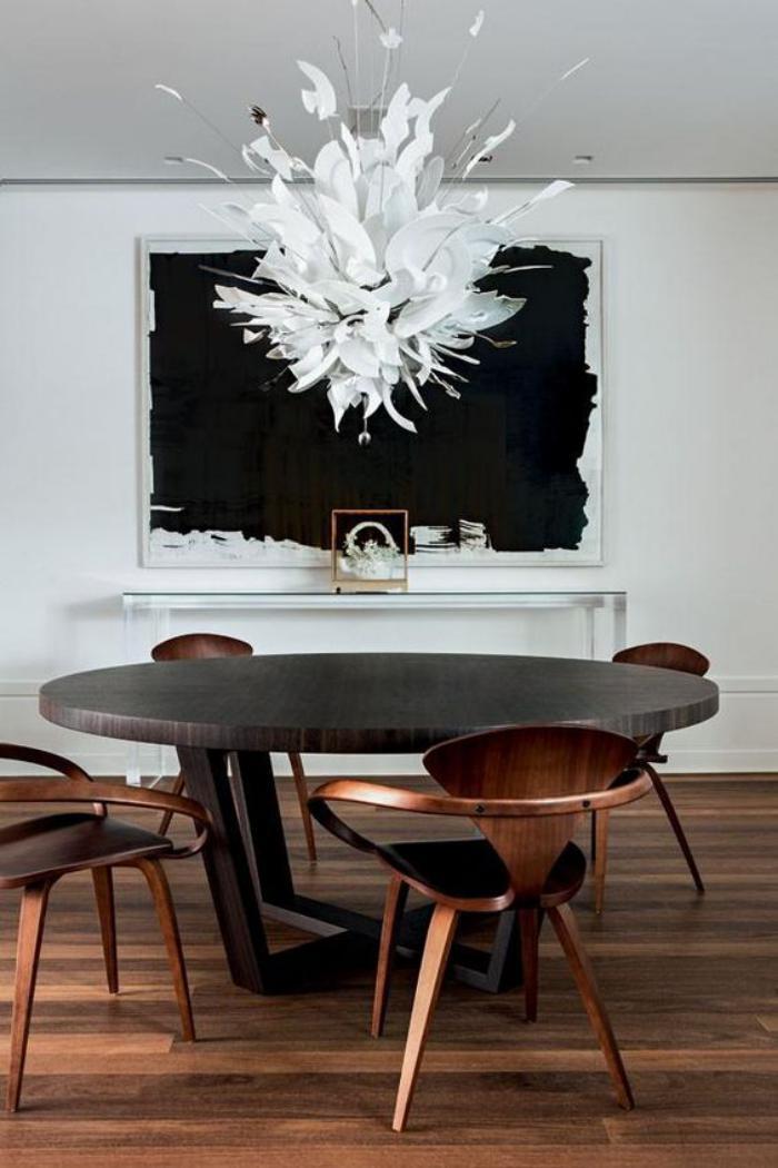 table-de-salle-à-manger-ronde-table-de-repas-chaises-élégantes