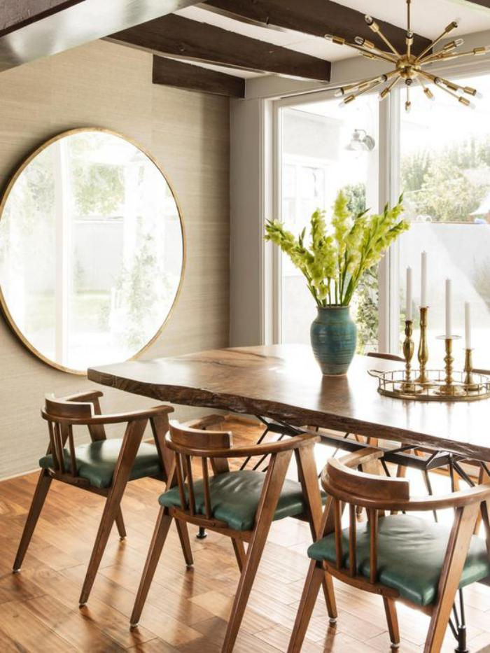 table-de-salle-à-manger-style-mid-century-table-dinatoire-avec-chaises