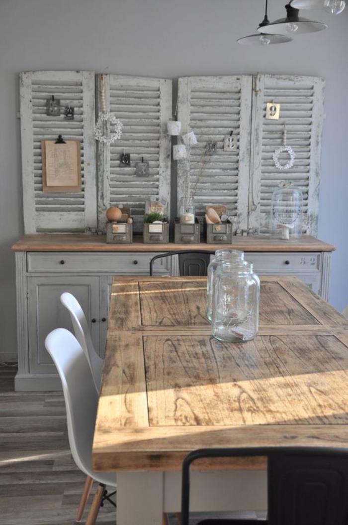 table-de-salle-à-manger-table-de-repas-bois-et-blanc