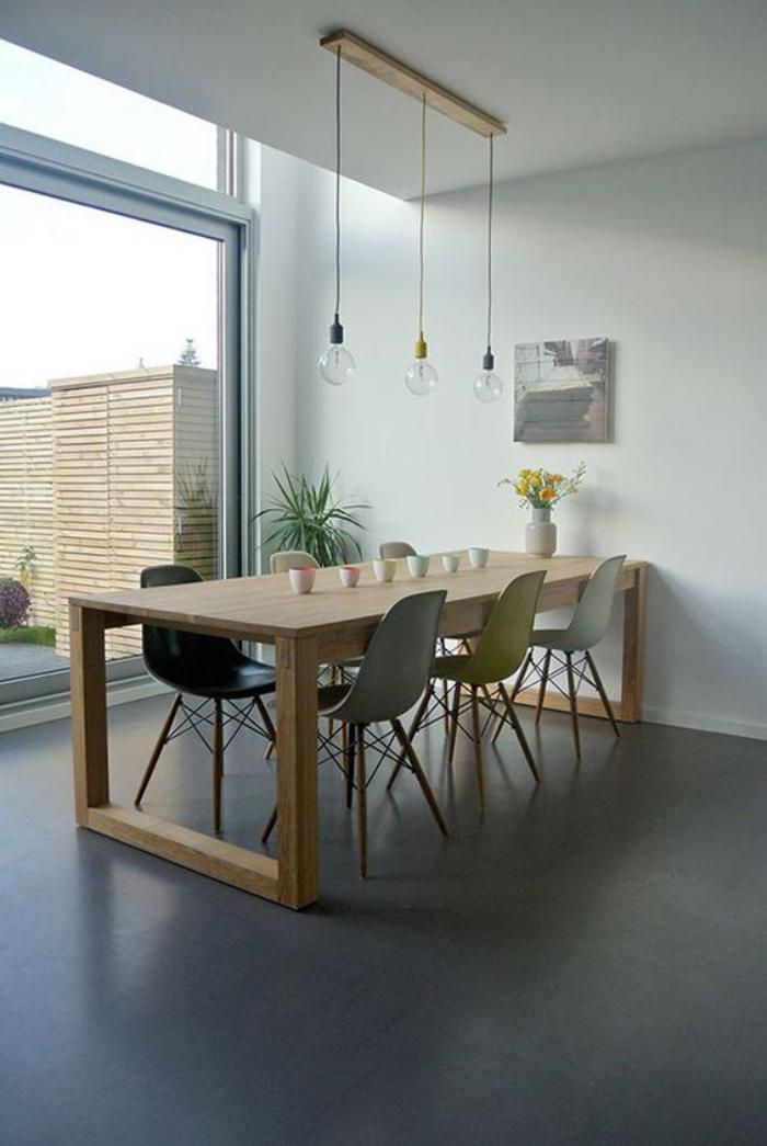 table-de-salle-à-manger-table-en-bois-lignes-épurées