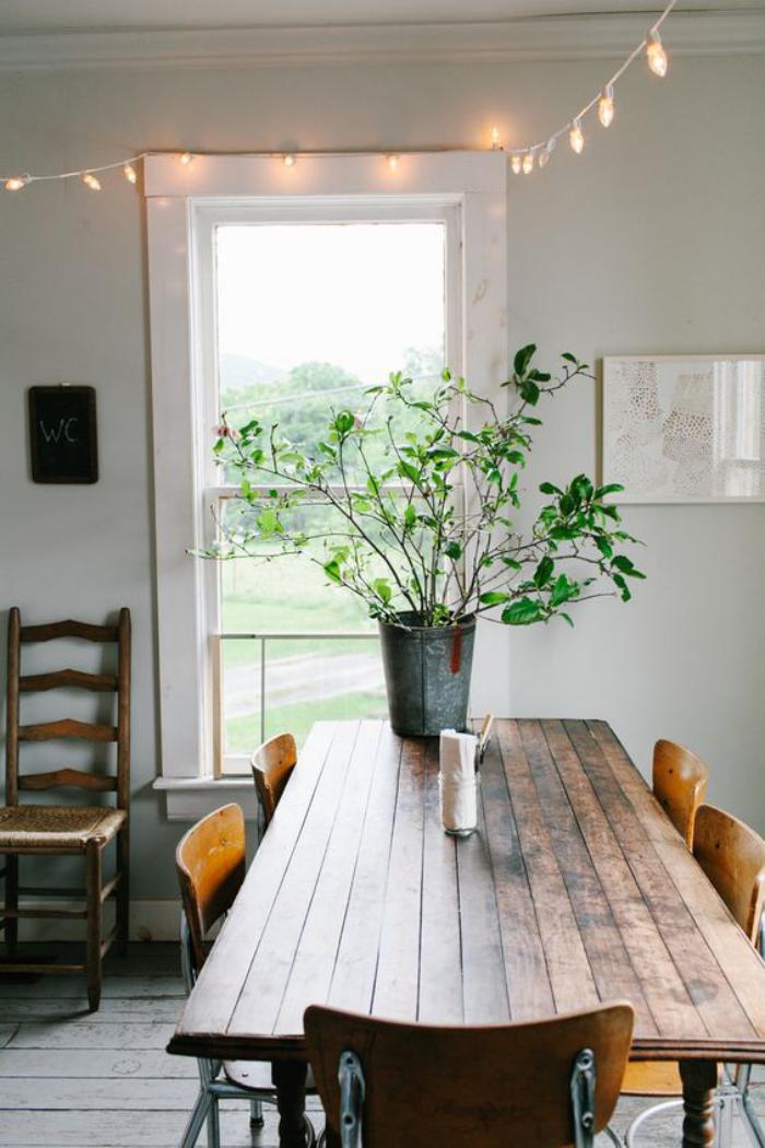 table-de-salle-à-manger-table-en-bois-style-rustique