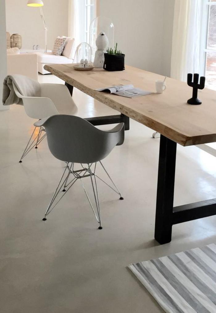 table-de-salle-à-manger-table-haute-rectangulaire-piètement-métal