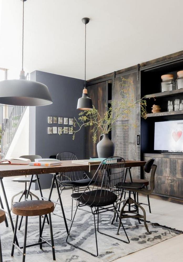 La table de salle manger en 68 variantes - Table de salle a manger style industriel ...