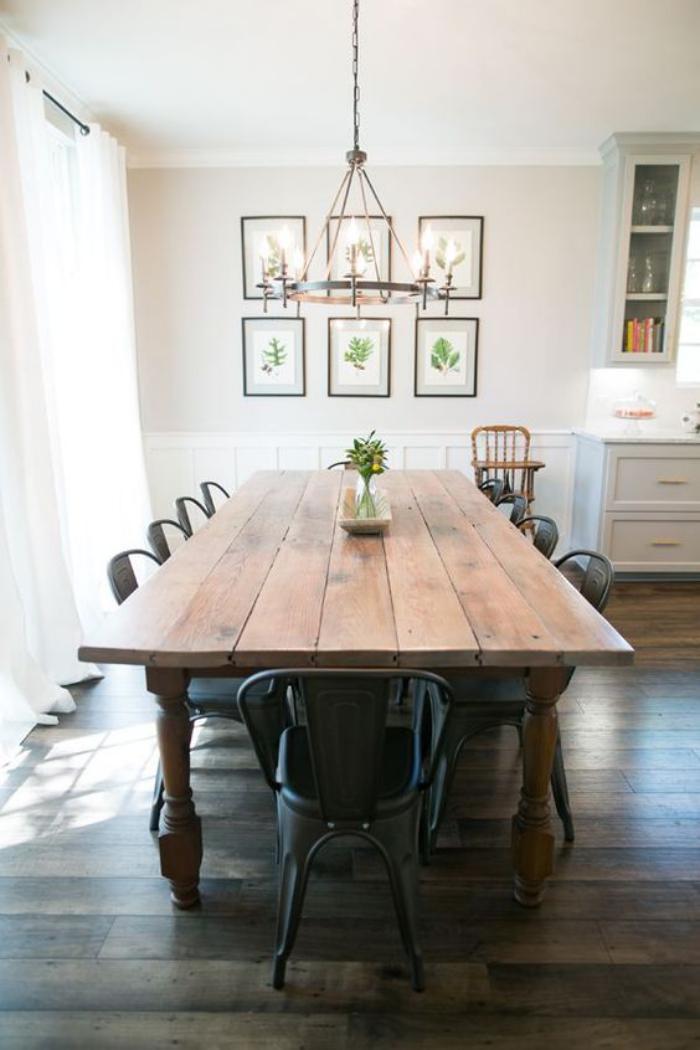 table-de-salle-à-manger-table-vintage-rustique-bois