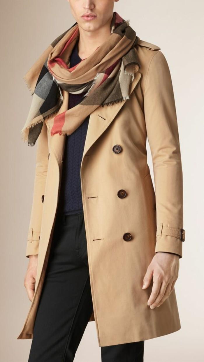 tricoter-une-écharpe-pour-homme-s-habiller-bien-beige