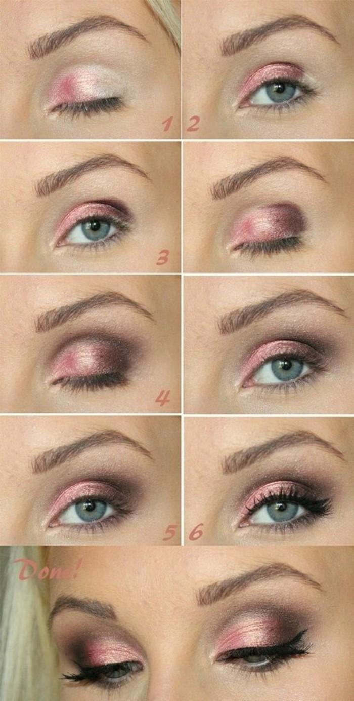 tuto-maquillage-yeux-vert-bleu-cheveux-blond-maquillage-soirée-yeux-vert-bleu