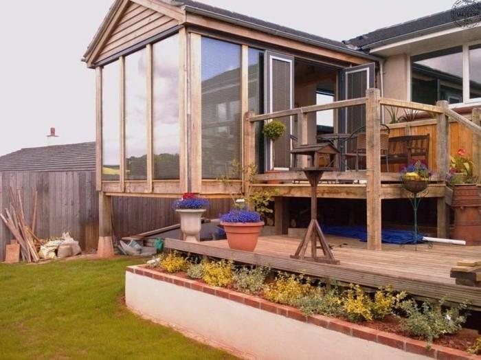 La v randa moderne 80 id es chic et tendance - Modele de veranda en bois ...