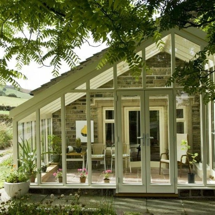 La v randa moderne 80 id es chic et tendance for Style maison contemporaine