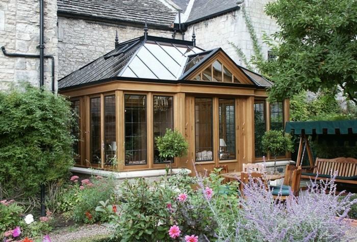 La v randa victorienne du charme l 39 ancienne en 50 photos for Extension bois veranda