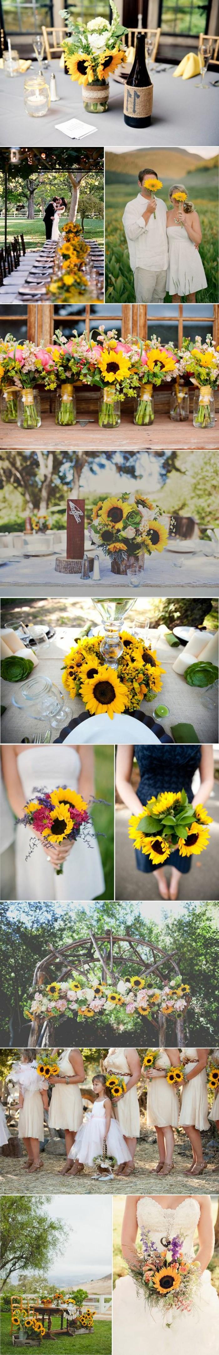 decoration-salle-de-mariage-avec-des-tournesols-jaunes-deco-table ...