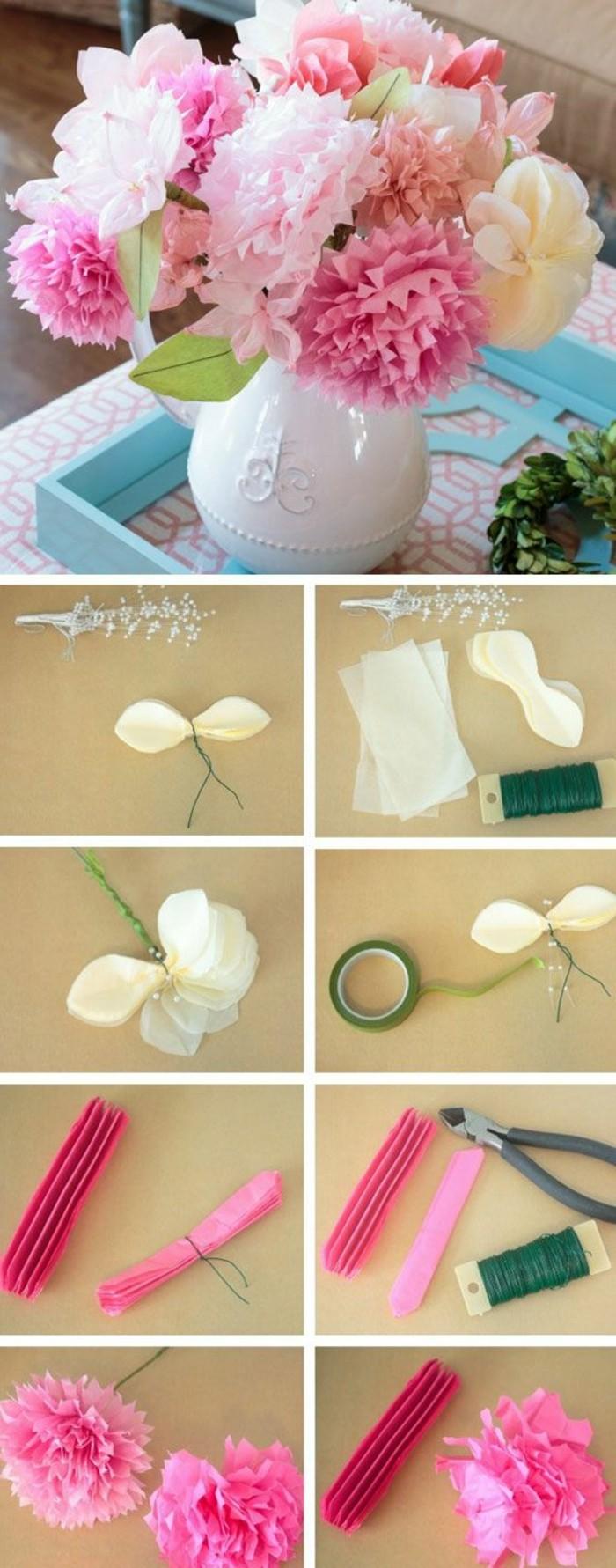 0-diy-bouquet-deco-mariage-table-avec-fleurs-en-serviettes-colores-diy-idee-mariage-pas-cher