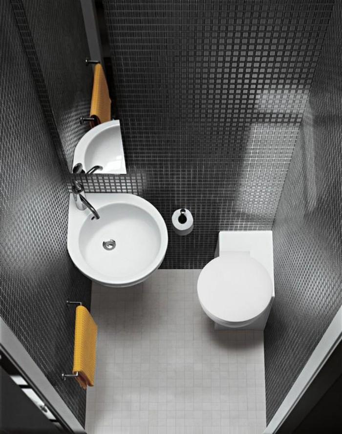 Awesome amenagement petite salle de bain 2m2 photos for Mini salle de bain 2m2