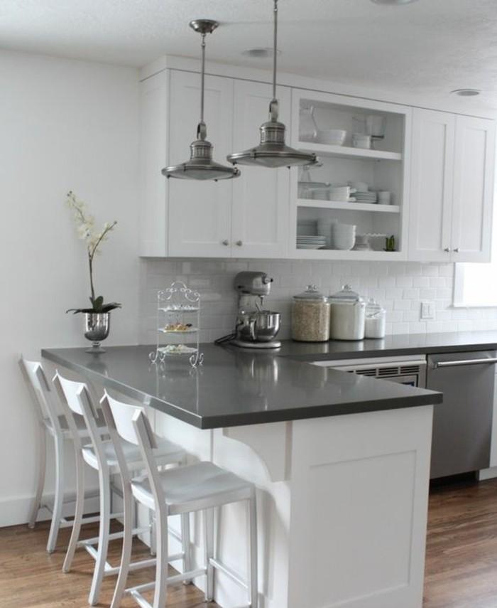 Couleur peinture cuisine 66 id es fantastiques - Deco peinture gris et blanc ...