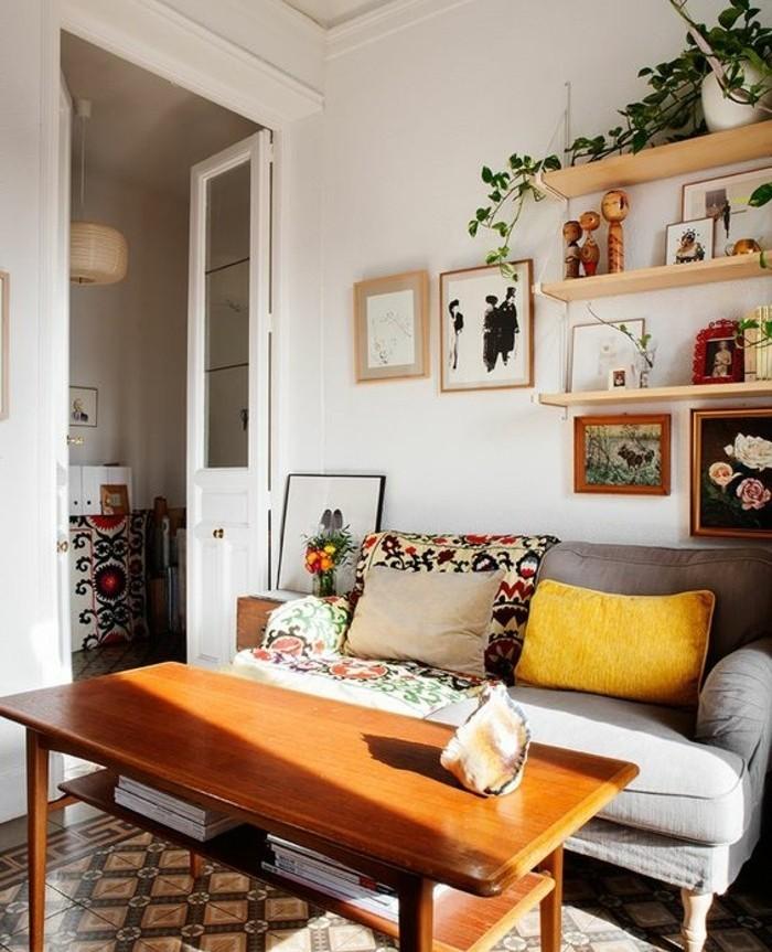 Idee Salle De Bain Faience : Couleur peinture salon – conseils et 90 photos pour vous inspirer