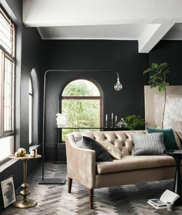 Couleur peinture salon conseils et 90 photos pour vous - Idee deco salon canape noir ...