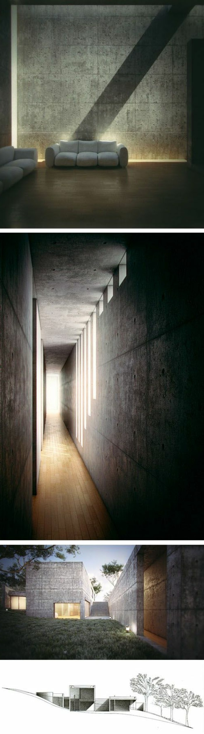 106-Luminaires couloir. Trois variantes.