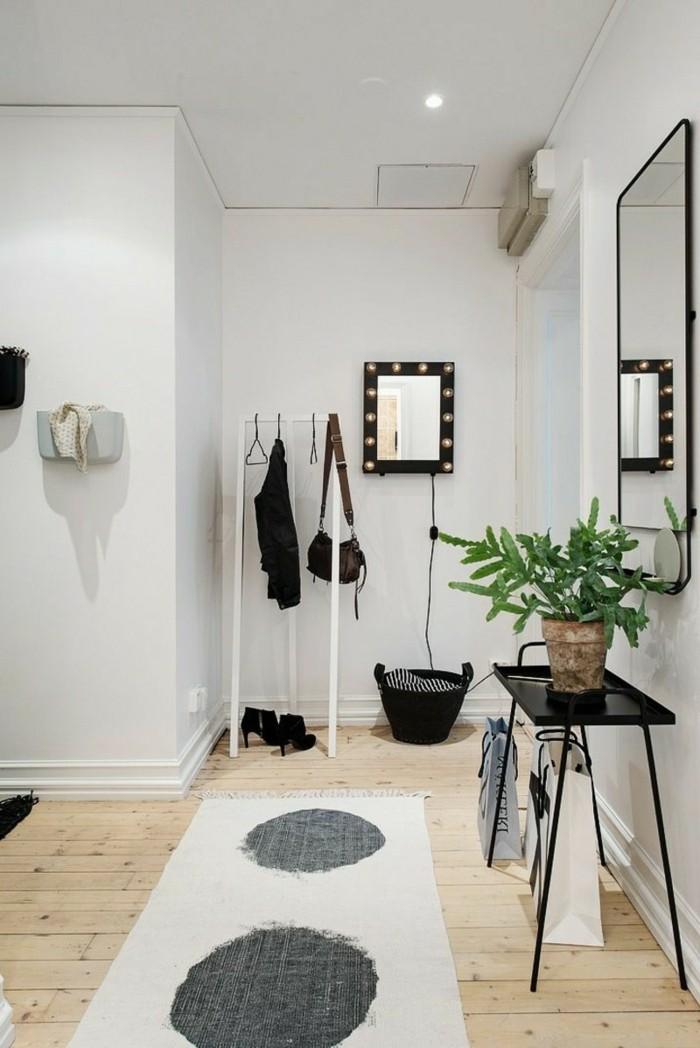 173-grand-miroir-chambre-un-tapis-un-pot-avec-une-plante-verte