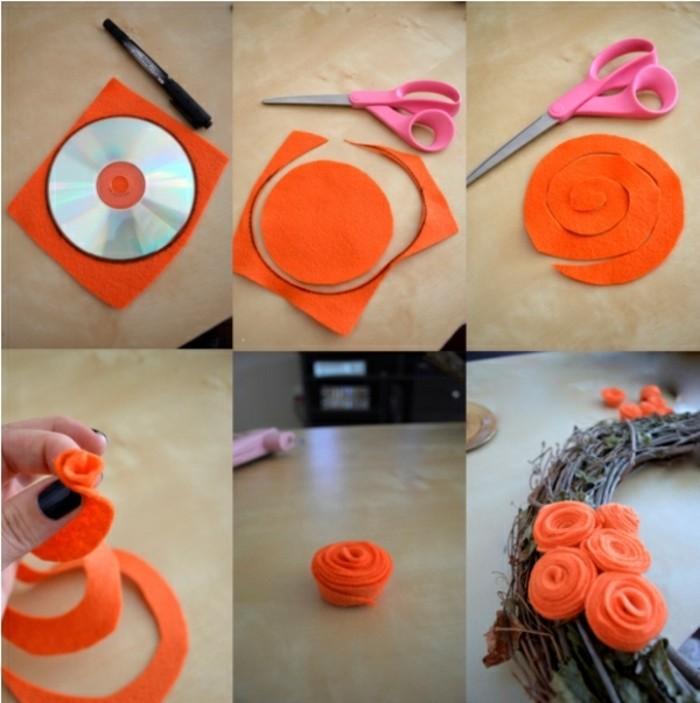 idee-formidable-bricolage-halloween-tres-sympa-couronne-de-fleurs-faite-de-fleurs-en-tissu