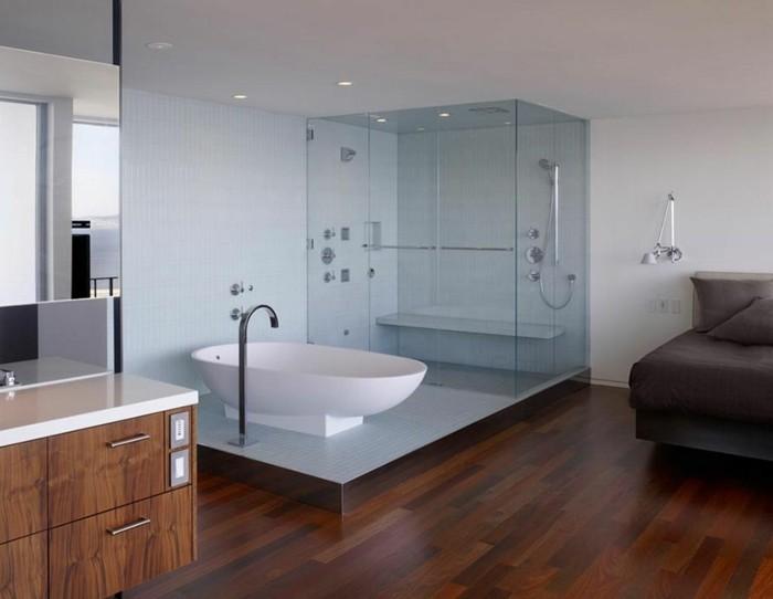 couleur-salle-de-bain-blanche-déco-à-litalienne-lignes-épurées-style-simple-et-élegant-parquet