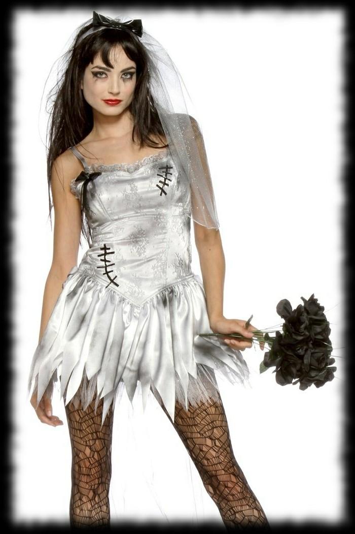 halloween-facile-femme-jeune-mariée-zombie-idée-maquillage-halloween ...