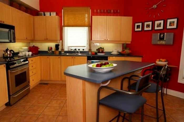 finest couleur peinture cuisine ides with meuble cuisine bois