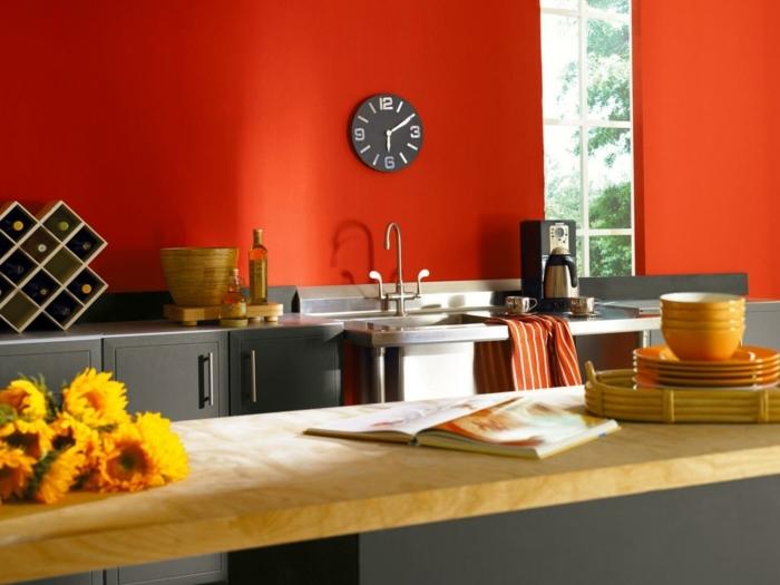 exemple-peinture-cuisine-rouge-peinture-meuble-cuisine-taupe-atmosphère-très-accueillante