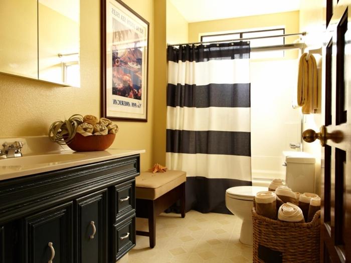 Salle de bain jaune et blanc ~ Outil intéressant votre maison
