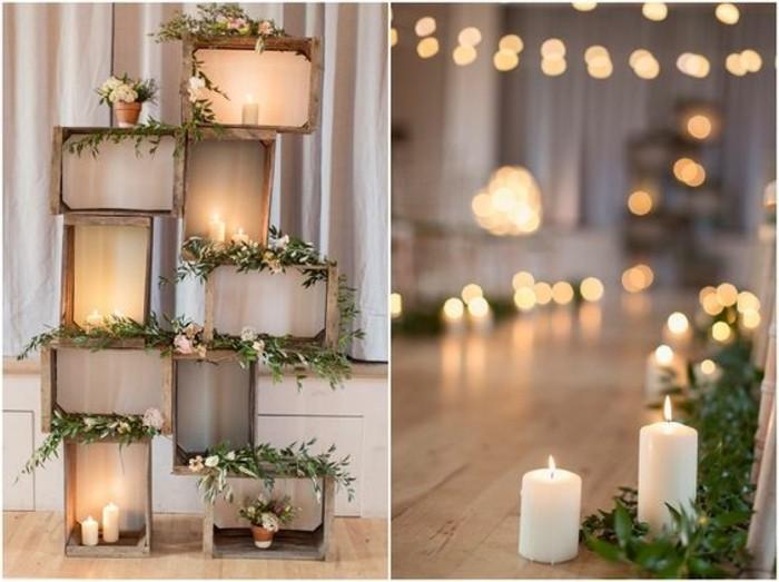 La d coration salle de mariage comment conomiser de l - Decoration avec des bougies ...