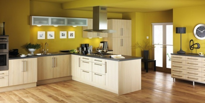Peinture dans une cuisine peinture effet pour la cuisine peinture pour cuisine en bois for Retouche peinture plafond
