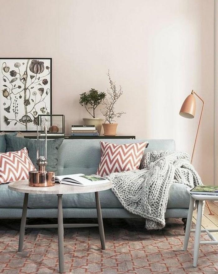 couleur-peinture-salon-rose-nuance-tres-douce-canape-gris-peite-table-tres-sympa-design-formidable