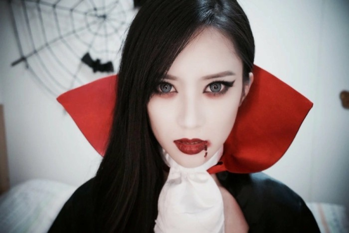 D guisement halloween facile 80 looks de derni re minute - Maquillage vampire petite fille ...
