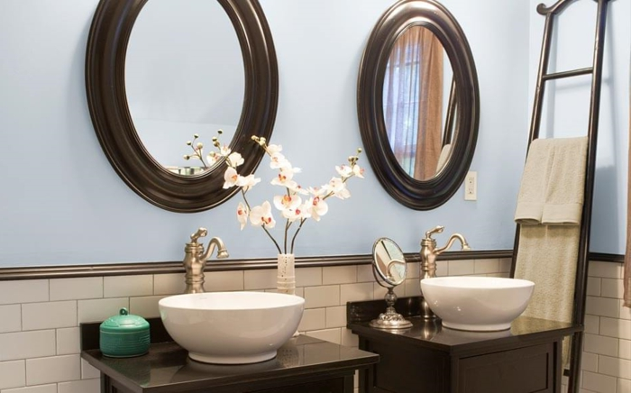 Peinture salle de bain 80 photos qui vont vous faire craquer for Miroir design tunisie