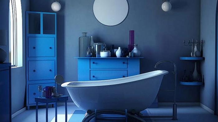 Salle De Bain Bleue : Peinture salle de bain photos qui vont vous faire craquer