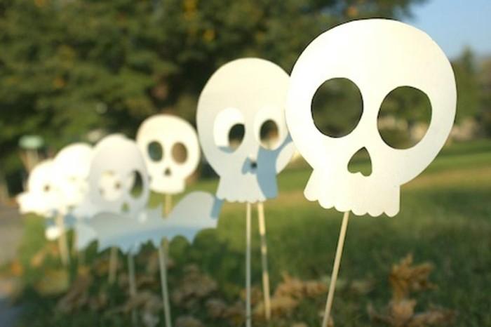 crânes halloween en papier, activité-halloween-facile