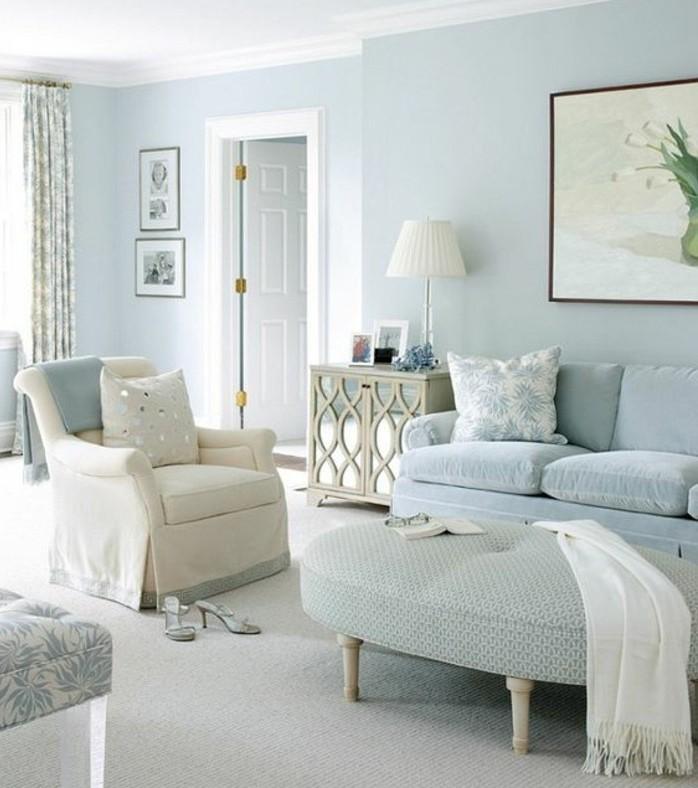 jolie-proposition-couleur-peinture-salon-bleue-decor-en-blanc-et-bleu-qui-incite-a-la-reverie