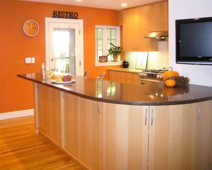repeindre-sa-cuisine-en-orange-idée-fantastique-ambiance-enjouée-qui-va-remonter-votre-moral