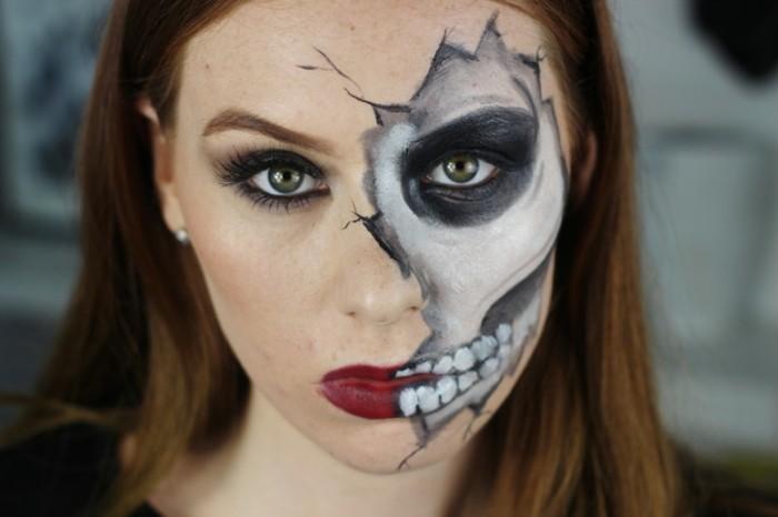 squelette,idee,deguisement,halloween,tres,simple,diy,squelette,
