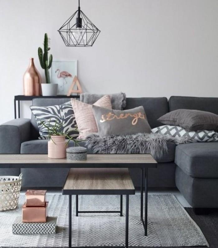 quelle-peunture-choisir-pour-votre-salon-mur-grise-canape-gris-fonce-tapis-gris-suspension-design-originale