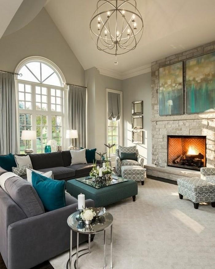 salon-majestueux-couleur-mur-salon-grise-decor-en-gris-vert-et-bleu-idee-deco-salon-luxe