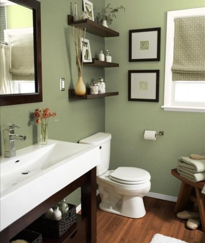 peinture salle de bain - 80 photos qui vont vous faire craquer - Salle De Bain Naturelle