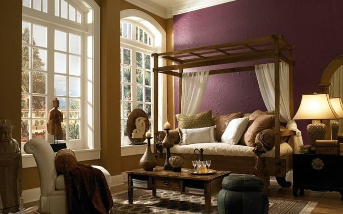 magnifique-idee-couleur-peinture-salon-rouge-bordeaux-amenagement-et-deco-salon-exotique-a-l-orientale-ambiance-zen