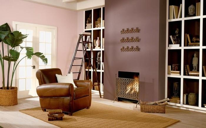 quelle-peinture-choisir-pour-le-deco-salon-suggestion-couleur-peinture-salon-rose-et-rose-cendre-ambiance-exotique-objets-deco-inspire-de-l-amour-pour-le-monde-orientale