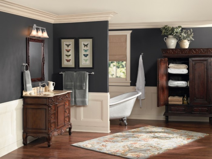 repeindre salle de bain peinture caill e. Black Bedroom Furniture Sets. Home Design Ideas