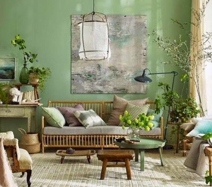 quelle-peinture-choisir-pour-la-deco-salon-decoration-composee-de-plantes-ambiance-zen-naturelle-coin-de-repos-parfait-materiaux-naturels